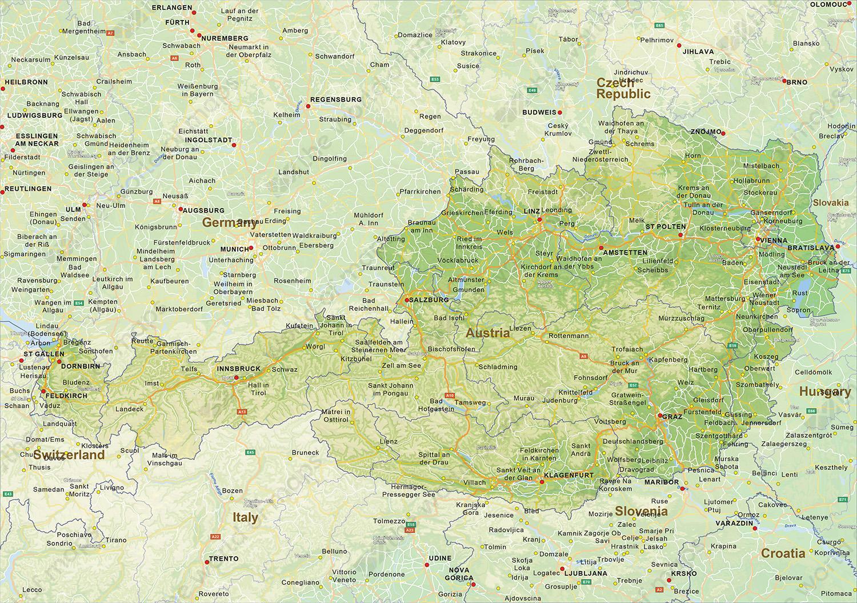 Brooke Austrija Karta Brooke Austriji Zapadna Europa Europa