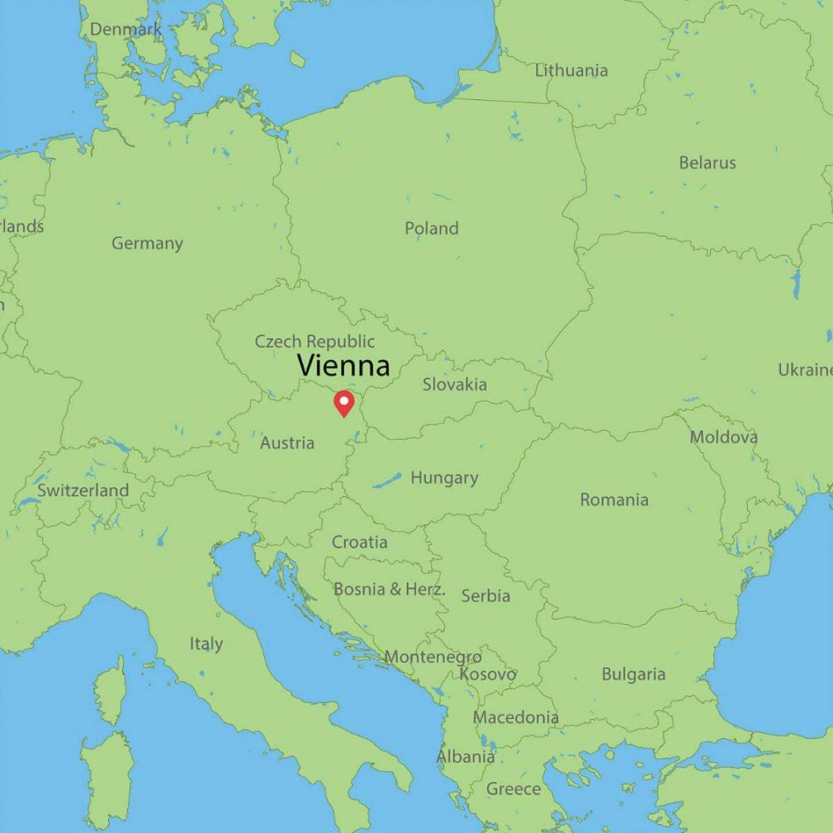 Bec Austrija Karta Europe Karta Bec Austrija Karti Europe